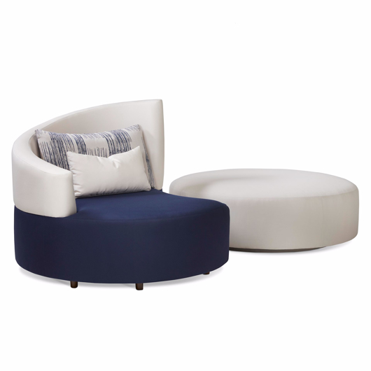 Picture of Siamese Swivel Ottoman- OUTDOOR