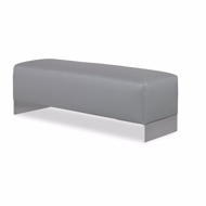 Picture of MACON ARMLESS BENCH W/STAINLESS STEEL LEGS
